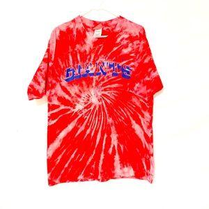 New York giants custom dyed tshirt